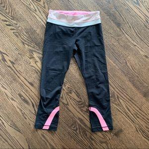 Lululemon inspire ii pink cropped leggings